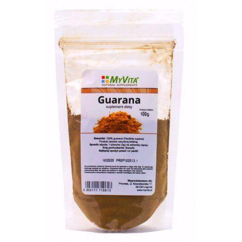 Myvita Guarana naturalne pobudzenia proszek - 100g (5903111710613). Najniższe ceny, najlepsze promocje w sklepach, opinie.
