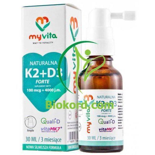 MyVita Witamina K2 MK-7+ D3 w kroplach 30 ml