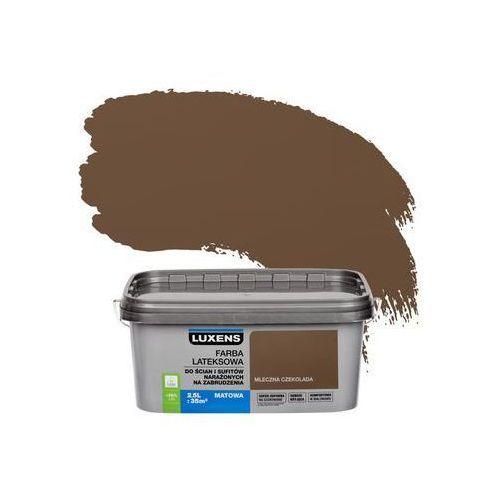 Farba wewnętrzna NARAŻONYCH NA ZABRUDZENIA 2,5 l Mleczna czekolada LUXENS, kolor beżowy