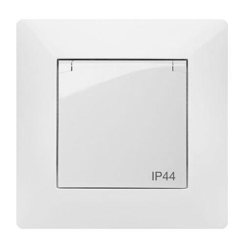Elektroplast  volante gniazdo 2p+z ip44 klapka dymna biały 2666-00 (5902012985908)