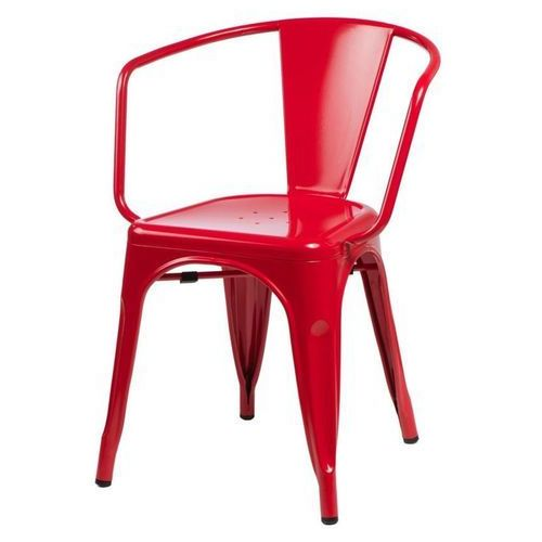 Krzesło Paris Arms inspirowane Tolix - czerwony (5902385716512)