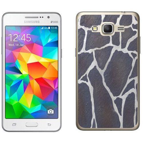 Zolti Samsung galaxy grand prime - etui na telefon - kolekcja kamień - szary kamień - d25