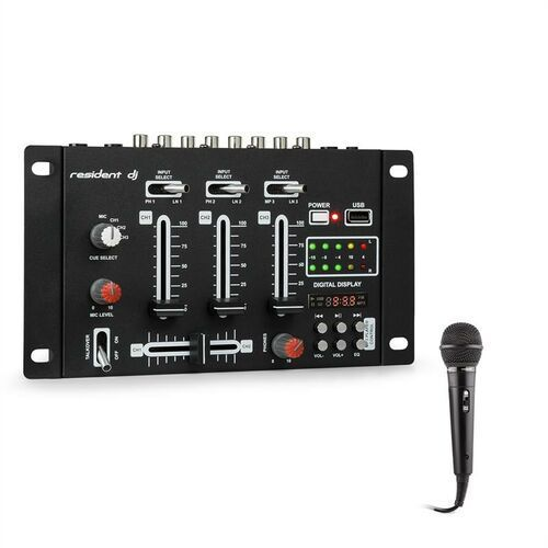 DJ-21 BT Pulpit mikserski zestaw Bluetooth USB Mikrofon kolor czarny (4060656122118)