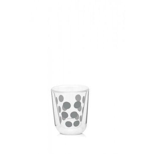 Zestaw 2 szklanek z podwójną ścianką 75 ml z łyżeczkami Zak! design srebrny, 1694-8600
