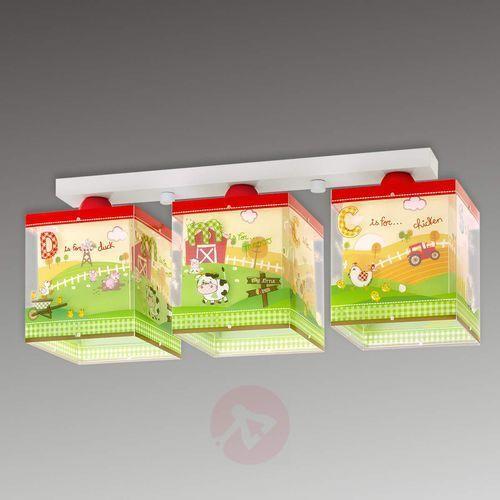 64403 - plafon dziecięcy my little farm 3xe27/60w/230v marki Dalber