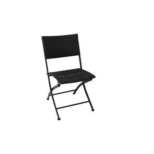 Krzesło składane | czarne | 580x470x(h)850mm | 2szt. marki Bolero