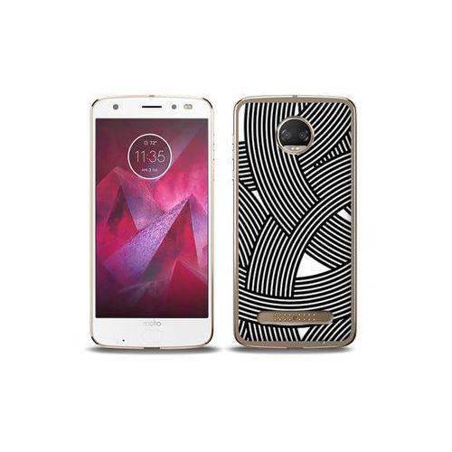etuo Fantastic Case - Motorola Moto G6 Play - etui na telefon Fantastic Case - biało-czarna mozaika
