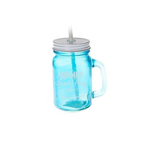 Kufel do picia ze słomką retro na drinki mleko marki Home