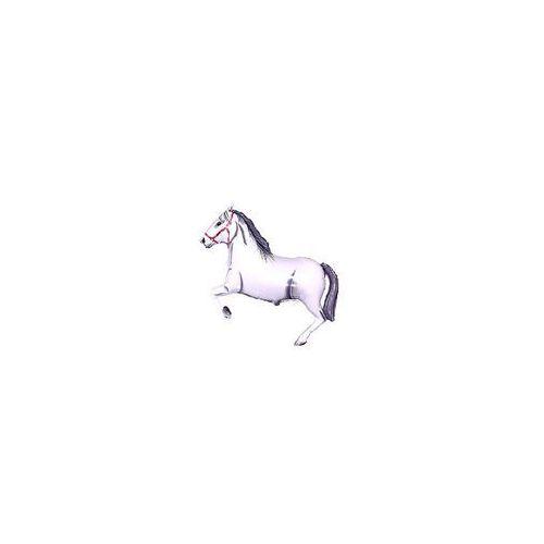 Balon foliowy koń w galopie biały 14'' 1szt marki Twojestroje.pl