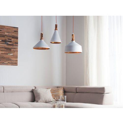 Lampa wisząca biało-złota sepik marki Beliani