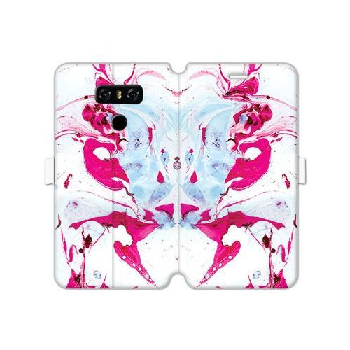Etuo wallet book fantastic Lg g6 - etui na telefon wallet book fantastic - różowy marmur