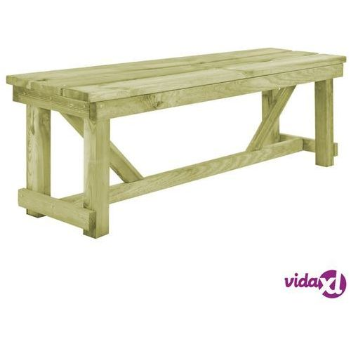 Vidaxl ławka ogrodowa, 140 cm, impregnowane drewno sosnowe (8718475712695)