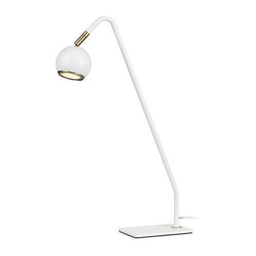 Stojąca LAMPKA biurkowa COCO 107341 Markslojd stołowa LAMPA nocna regulowana kula ball biała (7330024577794)
