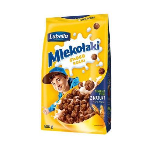 LUBELLA 500g Mlekołaki Kulki Choco Zbożowe chrupki o smaku czekoladowym