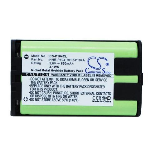 Panasonic hhr-p104 850mah 3.06wh nimh 3.6v () marki Cameron sino