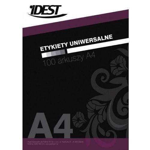 Etykieta samoprzylepna A4 Idest, nr 22, wymiary 52,5 x 29,6 mm, opakowanie 100 arkuszy po 40 etykiet - Autoryzowana dystrybucja - Szybka dostawa - Tel.(34)366-72-72 - sklep@solokolos.pl, ETYAID-00011