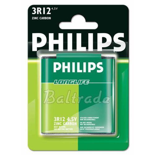 bateria cynkowo-węglowa Philips LongLife 3R12 - płaska (blister), 3R12L1B/10
