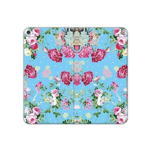 Apple iPad Air 2 - etui na tablet Flex Book Fantastic - różyczki na miętowym tle, kolor różowy