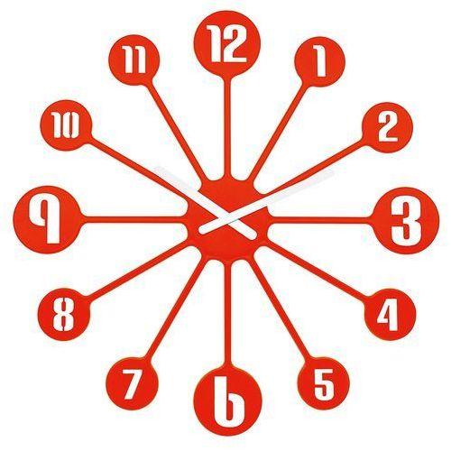 Koziol Zegar ścienny pinball - kolor mandarynkowy, (4002942324202)