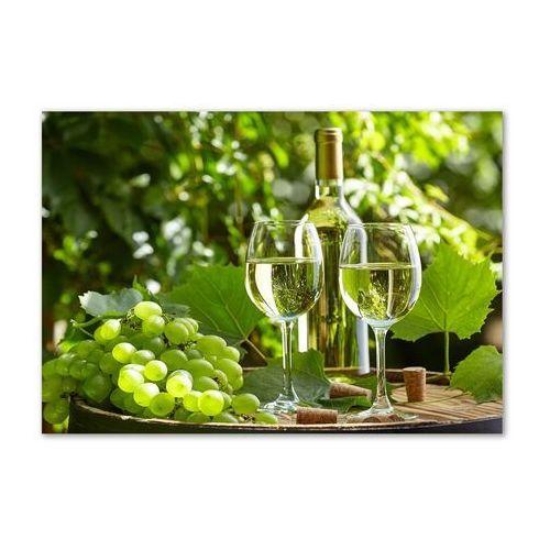 Foto obraz akryl Białe wino i owoce