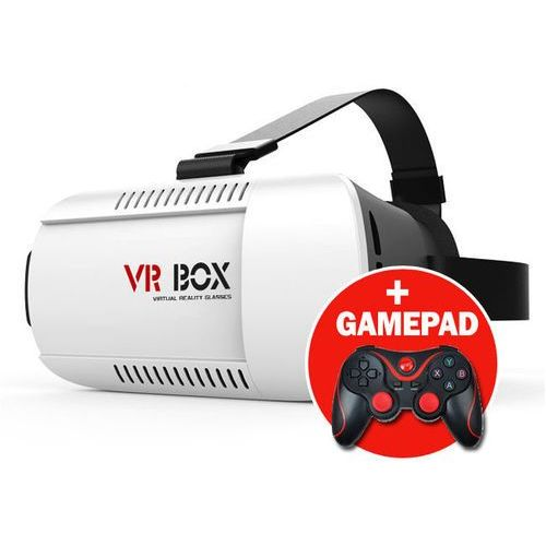 Okulary 3d vr box virtual reality oculus cardboard + gamepad marki 4kom.pl