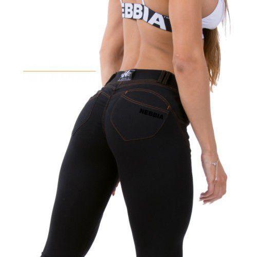 spodnie bubble butt revolution push up n255 black marki Nebbia