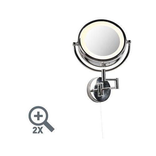 Okrągły lusterko do makijażu ścienny przełącznik ze stali chromowanej x2 - Vicino