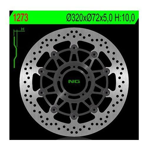 NG1273 TARCZA HAMULCOWA DUCATI 796/821/1078/1100/1200 '11-'16 (320X72X5) (5X8,5MM)