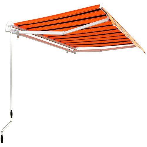 Markiza składana zadaszenie drzwi balkon taras - czarno-pomarańczowy marki Wideshop