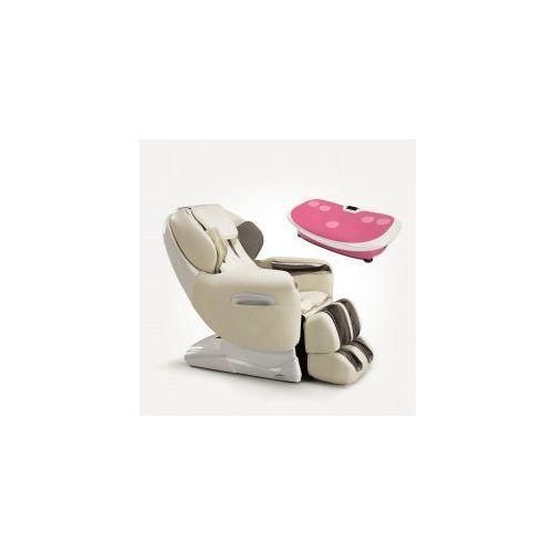 Fotel masujący esclusivo + platforma wibracyjna marki Massaggio
