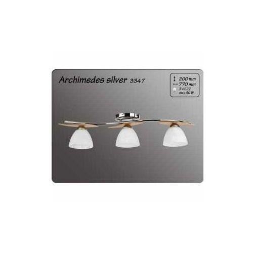 Alfa Plafon archimedes 3347 silver oprawa sufitowa 3x40w e14 biały mat/chrom