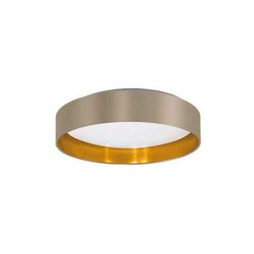 Eglo Plafon maserlo 31624 z abażurem 18w led cappucino/złoty
