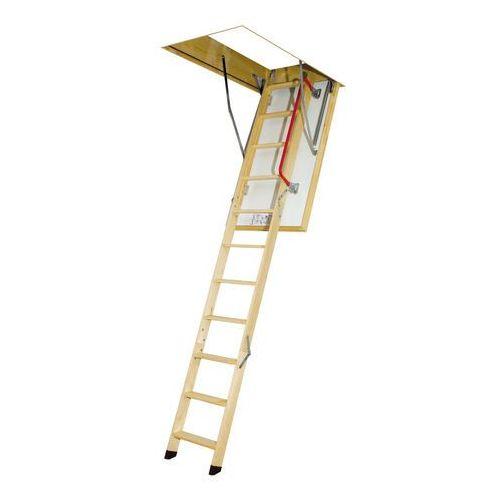 Schody strychowe LWK Plus 305 Fakro z drewnianą drabinką - 60x130