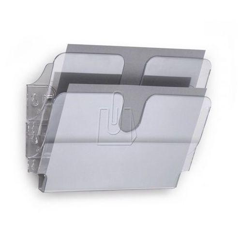 Zestaw dwóch poziomych pojemników  flexiplus a4 przeźroczysty 1709014400 od producenta Durable