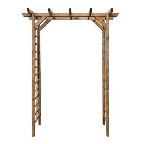 Pergola drewniana 165 x 80 x 214 cm brązowa, CPL7B