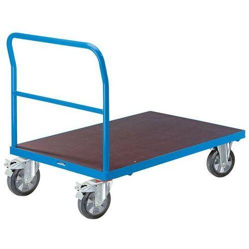 Wózek platformowy, pałąk rurowy, elastyczne ogumienie pełne, dł. x szer. 1250x80