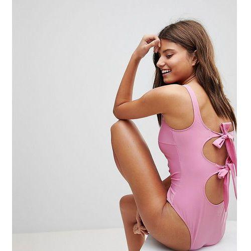 Peek & beau fuller bust bow back swimsuit dd - g cup - multi