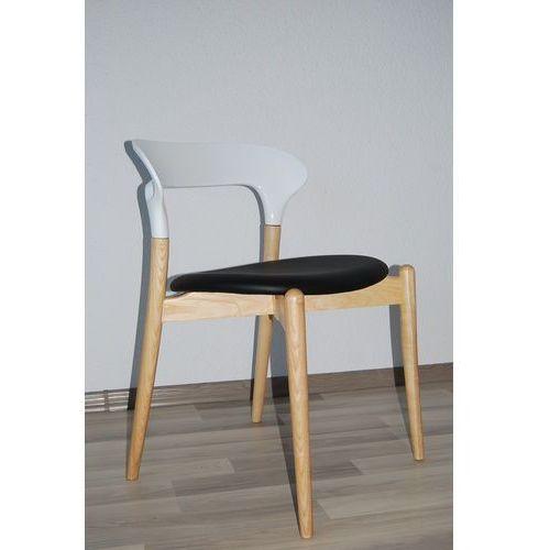 Nowoczesne krzesło EOS White Black, kolor czarny