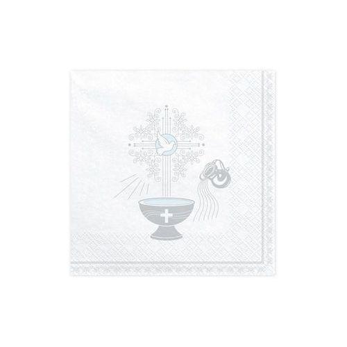 Serwetki chrzest święty 3 warst. 33x33 białe 20 szt marki Party deco