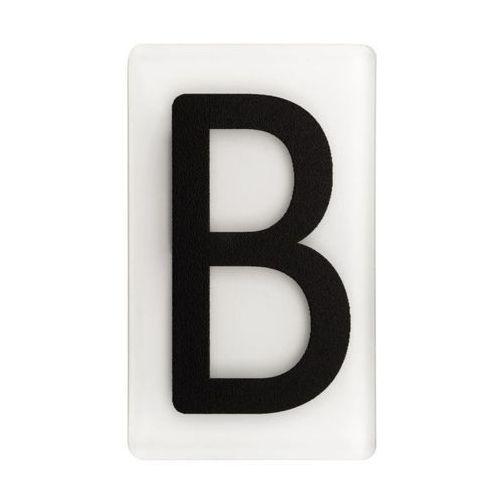 Litera B wys. 5 cm plexi czarna na białym tle