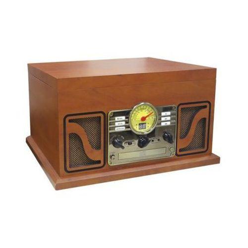 Gramofon retro cl 606 brązowy + płyta budka suflera marki Lauson