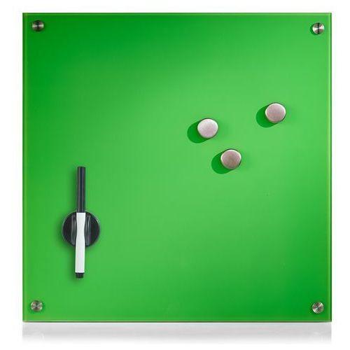 Szklana tablica magnetyczna MEMO, zielona + 3 magnesy, 40x40 cm, ZELLER (4003368116464)