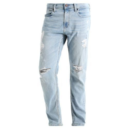 Hollister Co. Jeansy Relaxed fit light destroy, KI331-7105