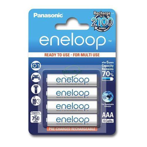 Akumulatory eneloop aaa - 4 x 750 mah marki Panasonic