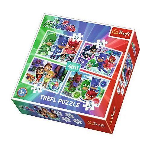 Trefl Puzzle 4w1 drużyna pidżamersów (5900511342994)