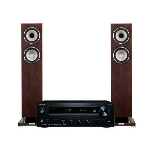 Zestaw stereo tx-8270b + tannoy revolution xt 6 f orzech marki Onkyo