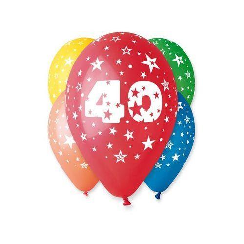 """Gemar Balony 12 z nadrukiem """"40"""" pastelowe (8021886301960)"""