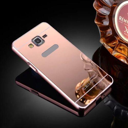 Mirror Bumper Metal Case Różowy | Etui dla Samsung Galaxy Grand Prime - Różowy