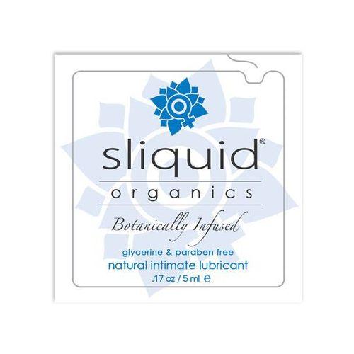 Wodny lubrykant z aloesem - organics natural lubricant pillow 5 ml saszetka marki Sliquid