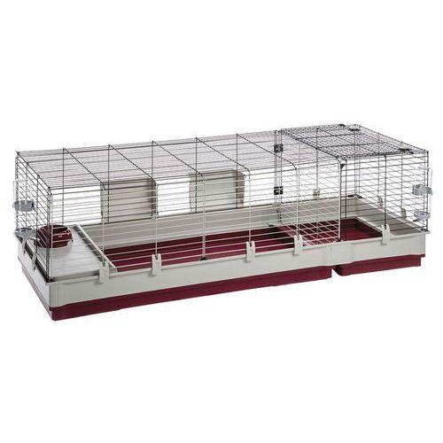 OKAZJA - Ferplast Krolik 160 składana klatka dla świnki, królika z wyposażeniem